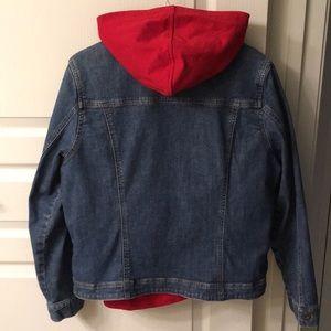Susan Bristol Hooded Denim Jacket w/RemovableLiner